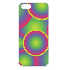 Background Colourful Circles Apple Iphone 5 Seamless Case (white)