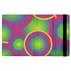 Background Colourful Circles Apple Ipad 2 Flip Case