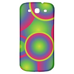 Background Colourful Circles Samsung Galaxy S3 S III Classic Hardshell Back Case