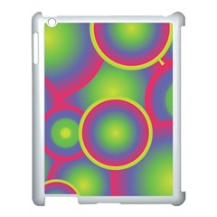 Background Colourful Circles Apple iPad 3/4 Case (White)