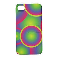 Background Colourful Circles Apple iPhone 4/4S Hardshell Case with Stand