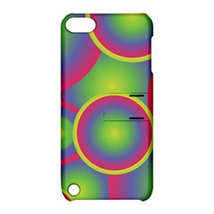 Background Colourful Circles Apple iPod Touch 5 Hardshell Case with Stand