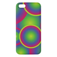 Background Colourful Circles Apple iPhone 5 Premium Hardshell Case