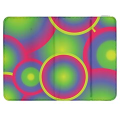 Background Colourful Circles Samsung Galaxy Tab 7  P1000 Flip Case