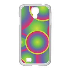 Background Colourful Circles Samsung GALAXY S4 I9500/ I9505 Case (White)