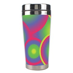 Background Colourful Circles Stainless Steel Travel Tumblers