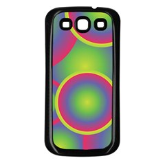Background Colourful Circles Samsung Galaxy S3 Back Case (Black)