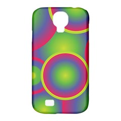 Background Colourful Circles Samsung Galaxy S4 Classic Hardshell Case (PC+Silicone)