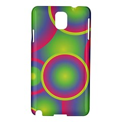 Background Colourful Circles Samsung Galaxy Note 3 N9005 Hardshell Case
