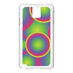 Background Colourful Circles Samsung Galaxy Note 3 N9005 Case (White)