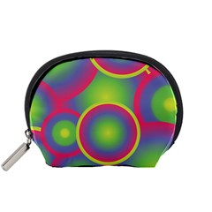 Background Colourful Circles Accessory Pouches (small)