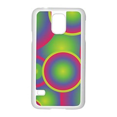 Background Colourful Circles Samsung Galaxy S5 Case (White)