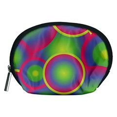 Background Colourful Circles Accessory Pouches (Medium)