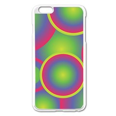 Background Colourful Circles Apple Iphone 6 Plus/6s Plus Enamel White Case