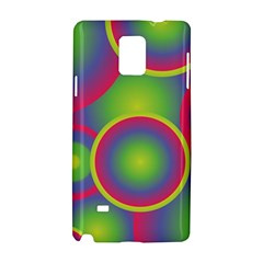 Background Colourful Circles Samsung Galaxy Note 4 Hardshell Case