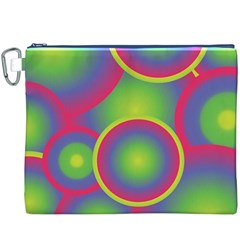 Background Colourful Circles Canvas Cosmetic Bag (XXXL)