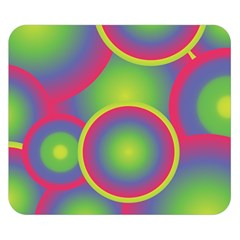 Background Colourful Circles Double Sided Flano Blanket (Small)