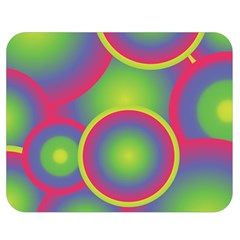 Background Colourful Circles Double Sided Flano Blanket (Medium)