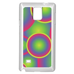 Background Colourful Circles Samsung Galaxy Note 4 Case (White)