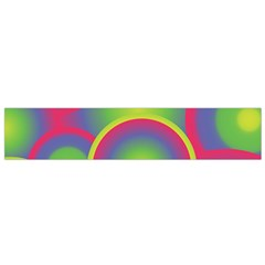 Background Colourful Circles Flano Scarf (Small)