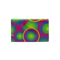 Background Colourful Circles Cosmetic Bag (XS)
