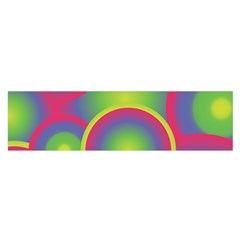 Background Colourful Circles Satin Scarf (Oblong)