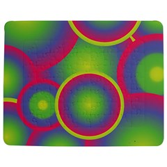 Background Colourful Circles Jigsaw Puzzle Photo Stand (Rectangular)