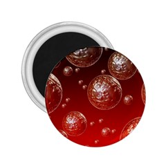 Background Red Blow Balls Deco 2.25  Magnets
