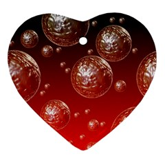 Background Red Blow Balls Deco Ornament (Heart)