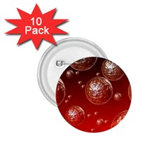 Background Red Blow Balls Deco 1.75  Buttons (10 pack)