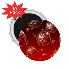 Background Red Blow Balls Deco 2.25  Magnets (10 pack)