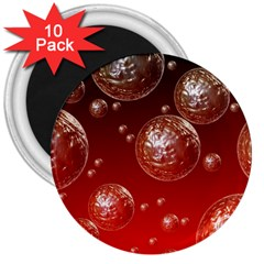 Background Red Blow Balls Deco 3  Magnets (10 pack)