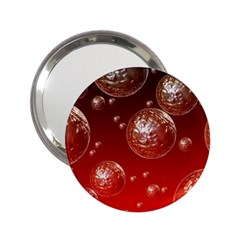 Background Red Blow Balls Deco 2.25  Handbag Mirrors