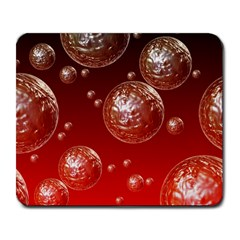 Background Red Blow Balls Deco Large Mousepads