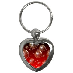 Background Red Blow Balls Deco Key Chains (Heart)