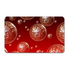 Background Red Blow Balls Deco Magnet (Rectangular)