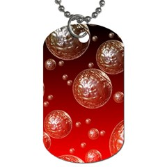 Background Red Blow Balls Deco Dog Tag (One Side)
