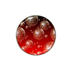 Background Red Blow Balls Deco Hat Clip Ball Marker (4 pack)