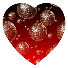 Background Red Blow Balls Deco Jigsaw Puzzle (Heart)