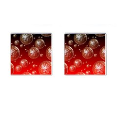 Background Red Blow Balls Deco Cufflinks (Square)