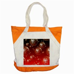 Background Red Blow Balls Deco Accent Tote Bag