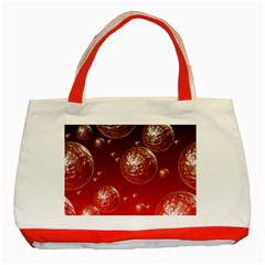 Background Red Blow Balls Deco Classic Tote Bag (Red)