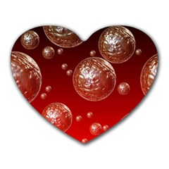 Background Red Blow Balls Deco Heart Mousepads