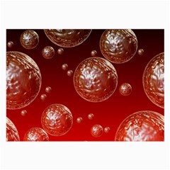 Background Red Blow Balls Deco Large Glasses Cloth (2-Side)