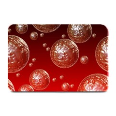 Background Red Blow Balls Deco Plate Mats