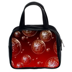 Background Red Blow Balls Deco Classic Handbags (2 Sides)
