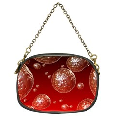 Background Red Blow Balls Deco Chain Purses (One Side)