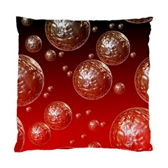 Background Red Blow Balls Deco Standard Cushion Case (One Side)