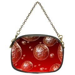 Background Red Blow Balls Deco Chain Purses (Two Sides)