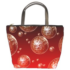 Background Red Blow Balls Deco Bucket Bags